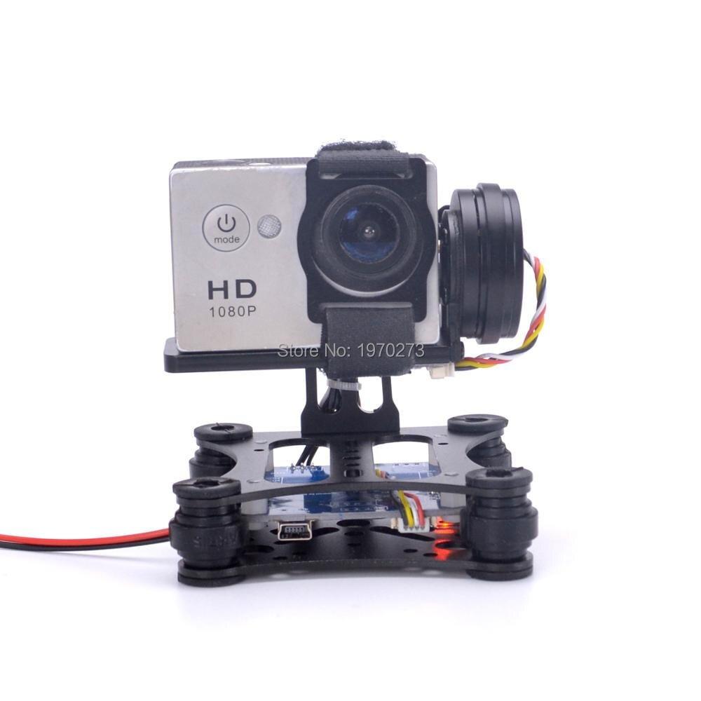 Lightweight 2-Axis / 3-Axis Brushless Gimbal Board for SJ4000 Gopro3 4 Gopro Hero 5 6 session Runcam 3 Eken H9 Camera RC Drones