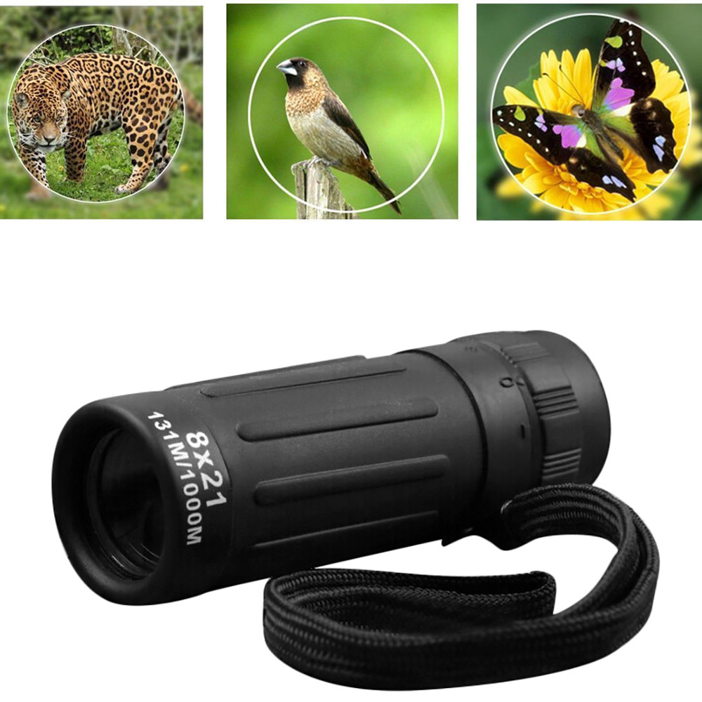 Outdoor Monocular Telescope Super High Power 8x21 Portable HD OPTICS BAK4 Night Vision Monocular Telescope 90 x 30 mm#25