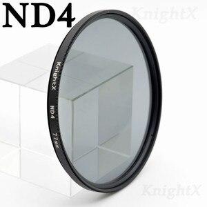Image 3 - KnightX ND2 ND4 ND8 ND16 ND 52 มิลลิเมตร 58 มิลลิเมตร 67 มิลลิเมตร 77 มิลลิเมตรตัวกรองเลนส์กล้องสำหรับ canon eos sony nikon 400d d70 photo kit 60d 200d 18 135