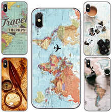 World Map Travel Just Go Soft Clear Phone Case Cover Coque Fundas For iPhone XS MAX 5 6 6Plus 7 7Plus 8 8Plus X Fundas Cover(China)