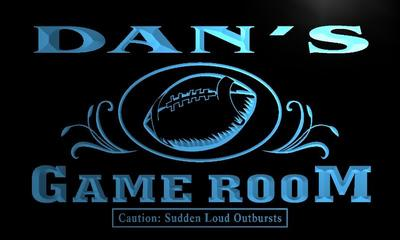 x0179-tm Dans Football Game Room Custom Personalized Name Neon Sign Wholesale Dropshipping On/Off Switch 7 Colors DHL