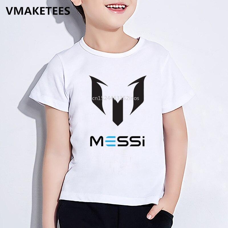 Kinder Sommer Kurzarm Mädchen & Jungen T shirt Kinder Messi Logo Gedruckt T-shirt Bequeme Beiläufige Baby Kleidung, ooo2218