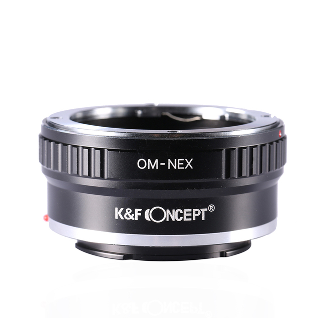 K&F Concept Lens Mount Adapter for Olympus OM Lens to Sony NEX (E-Mount) Camera Body for NEX-3 NEX-3N NEX-5 NEX-5R NEX-6 NEX-7