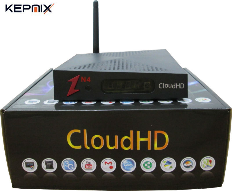 Cloud HD N4 DVB-S2 Satellite Receiver powervu CloudHD N4 Without IKS wifi internal youtube camd freesat v8 super cloud n4 hd freesat v8 super receptor satellite receiver support powervu dre