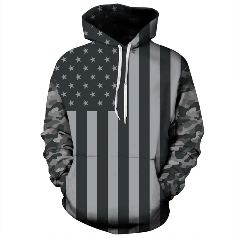 Headbook USA Flag Hoodies Women/Men 3d Sweatshirts Print Striped Stars America Flag Hooded Hoodies Tracksuits Pullover YXQL255