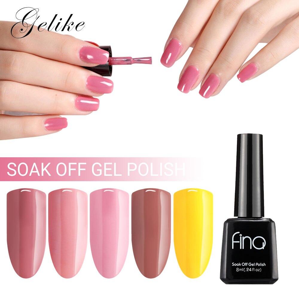 Gelike Pink Color Regular Gel Nail Polish Fast Dry Finger