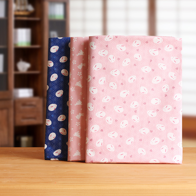 100 Cotone Di Stile Del Giappone Tessuto Sakura Bunny Stampe
