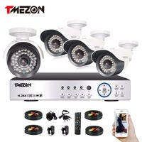 Tmezon 2MP AHD CCTV Camera 3 6mm Len Security Bullet Camera 36Led Must Work With AHD