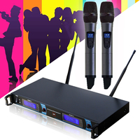 Studio Microphone Wireless Dual Handheld Microphone Mic System Home KTV Karaoke DJ Wireless Microphone Profesional