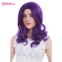 L Email Wig Hot Sale 57cm 22inches Cosplay Wigs Purple Little Pony Heat Resistant Synthetic Hair
