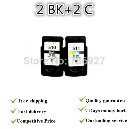 Hot sale!2sets Remanufactured for Canon PG 510 CL511ink cartridge,for Canon Pixma iP2700/MP240/MP250/MP260/MP270/MP280MP480MP490 canon pixma mp250 купить в минске