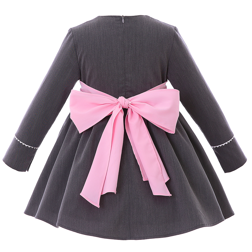 2d4040f7d Pettigirl Newest Fashion Autumn Vintage Party Dress With Pink Headband Long  Sleeve Lace Kids Pageant Clothing G-DMGD106-B312 ~ Free Delivery May 2019