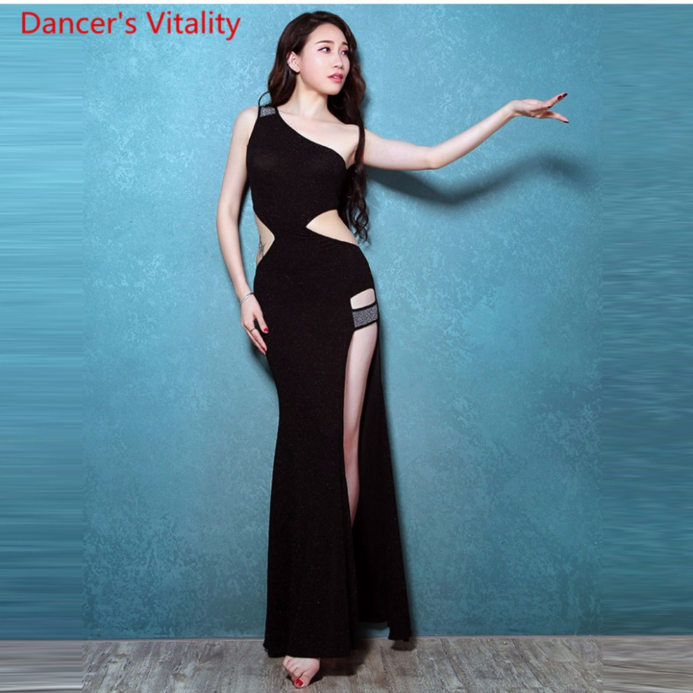 Professional Belly Dance Dresses For Ladies 3 colors Elegant Fashion Women Flamenco Free Shipping Sexy Split