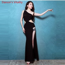 Profesjonalne sukienki do tańca brzucha dla pań 3 kolory eleganckie kobiety moda Flamenco darmowa wysyłka seksowny przedział sukienka