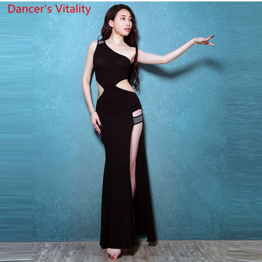 Professional Belly Dance Dresses For Ladies 3 Colors Elegant Fashion Women Flamenco Free Shipping Sexy Split Dress