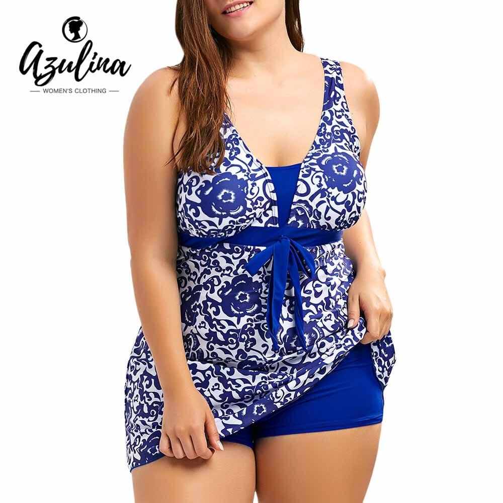 Rosegal Women Sets Paisley and Floral Plus Size Skirted Swim 2 Pieces Set Suit Women Vacation Swimwear Tracksuit Playsuit Femme