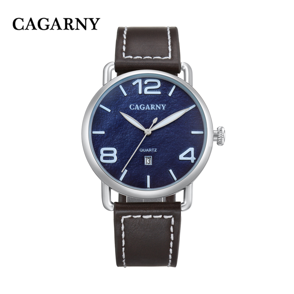 classic design high quality quartz watch men japaness movement genuine leather strap mens watches drop shipping (16)
