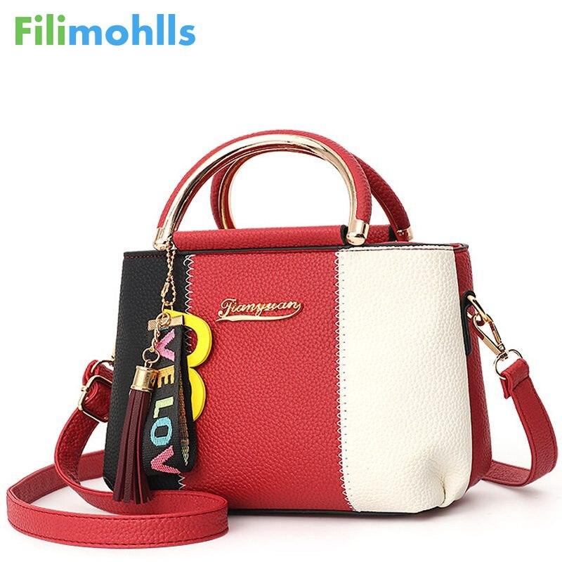Women Bag Women's Fashion Handbag Daily Shoulder Bags Female Solid Color Tassel Design Message Bag Lady Casual Zipper Bag S1683