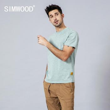 Casual Crew Neck Short Sleeve Colored Cotton T-Shirt 1