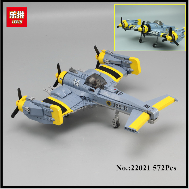 IN STOCK  Lepin 22021 572PCS Technical Series The Beautiful Science Fiction Fighting Aircraft Set Building Blocks Bricks Toys the great science fiction
