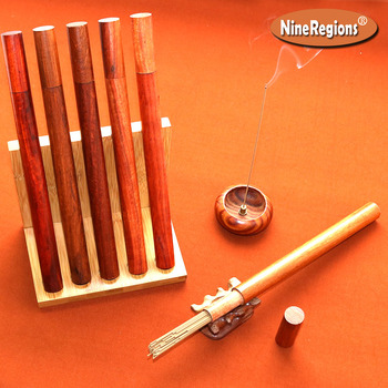 10g 40sticks quality natural Chinese HaiNan Aloeswood stick incense with rosewood tube aroma oud incenso Sweet elegant lasting image