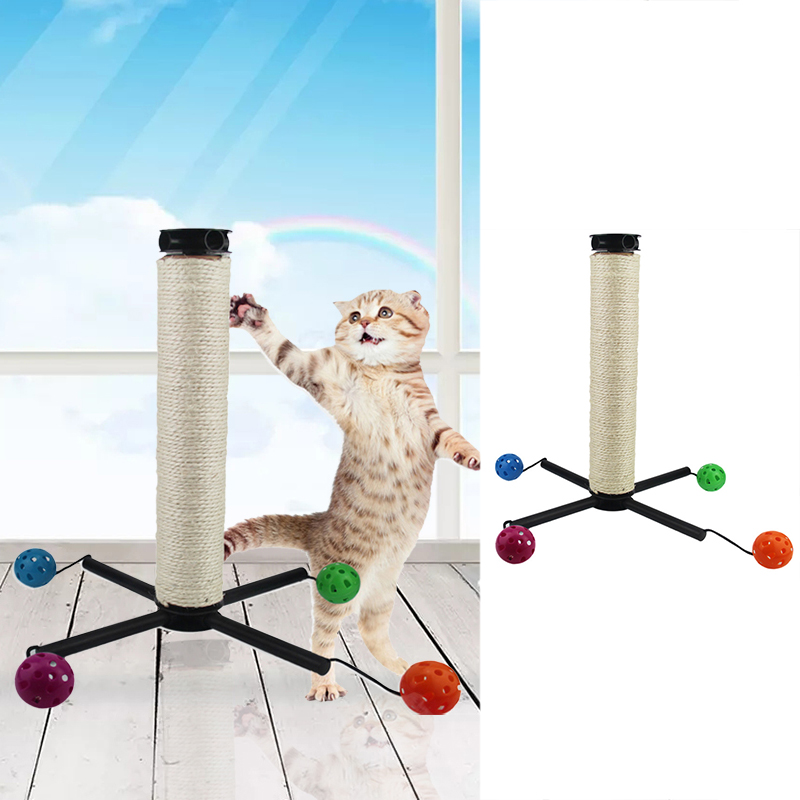 Natural Non Toxic Sisal Hemp Cat Scratching Post Protecting Furniture  Grinding Claws Cat Scratcher Toy With Randomly Color Balls In Cat Toys From  Home ...
