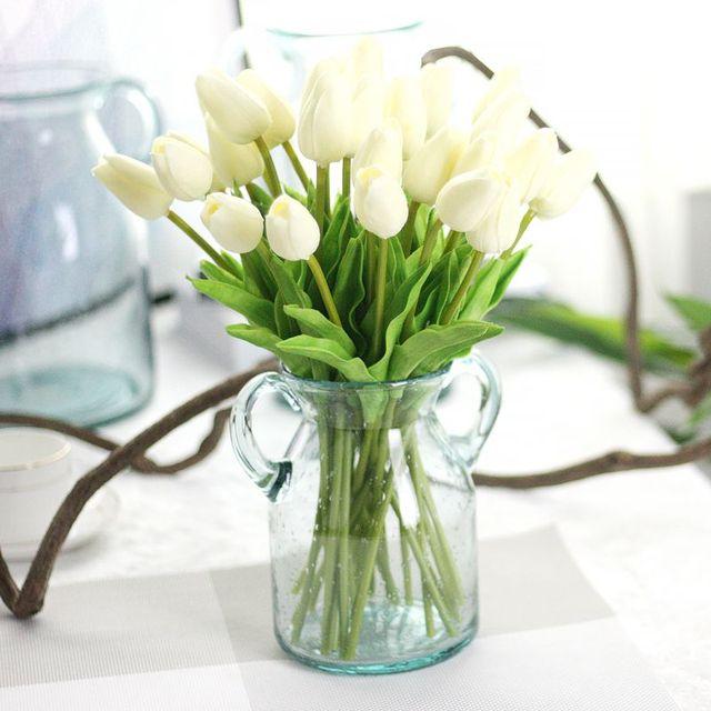 1pc Artificial Tulips Fake Flowers Pu Flores Artificiales Para