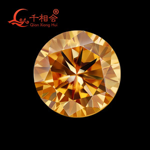 Image 5 - 5mm to 12mm  yellow color  Round Brilliant cut Sic material moissanite  loose stone by qianxianghui (vdieo is light yellow)
