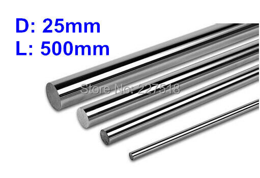 1pc/lot linear shaft 25mm diameter 500mm  harden linear rod round shaft 2pcs linear shaft 500mm long diameter 20mm l 500mm harden linear rod round shaft chrome plated