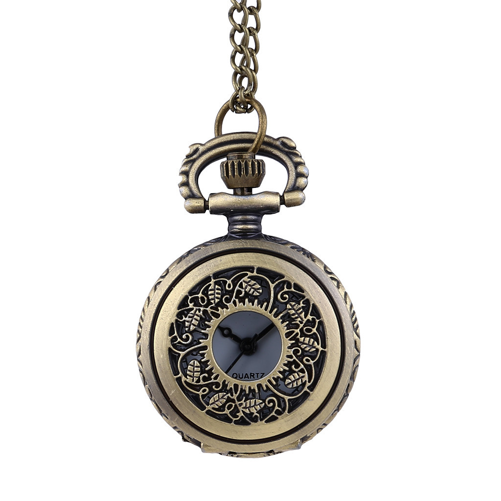 Men And Women Couple Pocket Watch Retro Quartz Hanging Table Commemorative TablePocket Watch Man Woman Kid Gift Necklace Clock