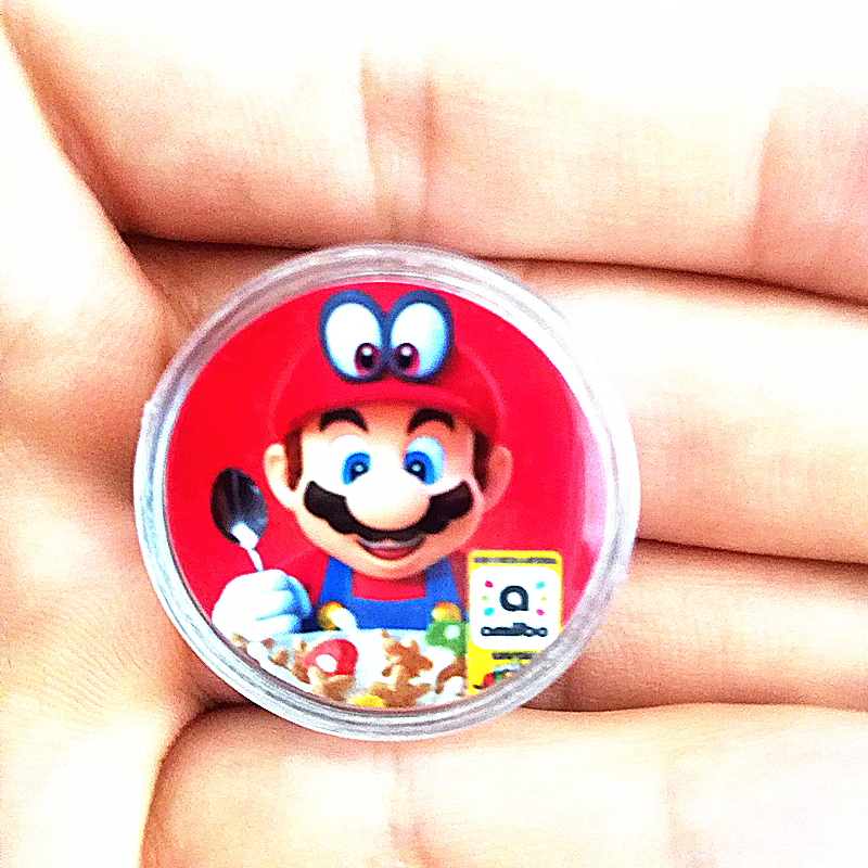 1Pcs NFC <font><b>Card</b></font> Collection Coin Tag Of <font><b>Amiibo</b></font> For Super <font><b>Mario</b></font> Cereal Printed Delicious Fast Shipping image