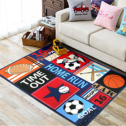 Boys Best Loved Rugs And Carpets For Home Living Room Sports Style Soccer Football Baseball Printed Tapeta Playing Mats Kids Rug In Carpet From