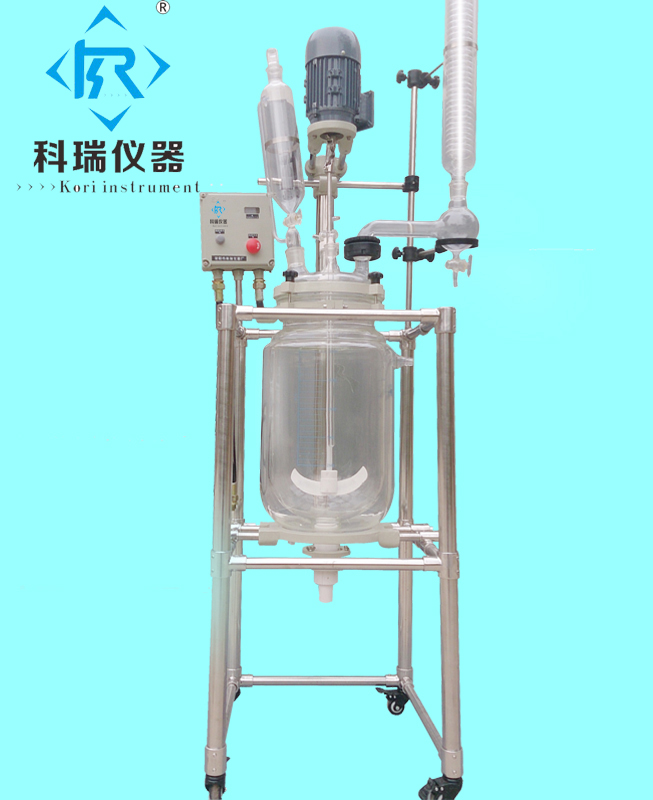 10L EX Series Double Layer Glass Reactor with Explosion motor,PTFE/Teflon seal,220V/110V,Vertical condensor with reflux flask 10ml ptfe teflon crucible breakers with cover