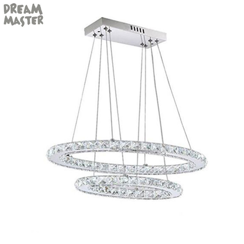 Oval LED crystal pendant lamp lighting fixture for home living room bedroom America Football lampada led abajur lustres de sala a1 master bedroom living room lamp crystal pendant lights dining room lamp european style dual use fashion pendant lamps