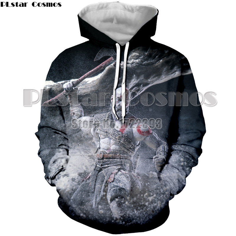 PLstar Cosmos New Fashion God OF War Kratos 3d Printed Hoodies Men/Women Autumn Hooded Sweatshirts Long Sleeve Pullovers S-5XL