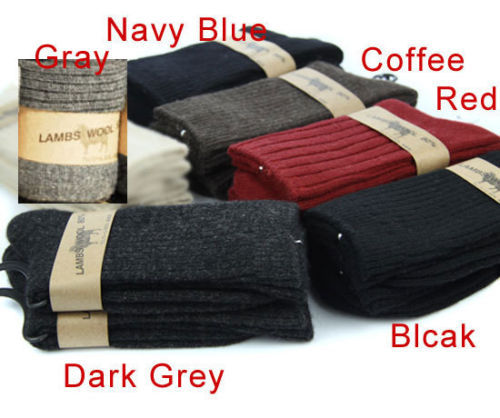 80cm Lamb Warm Comfortable Men Socks Winter Autumn Mens Wool Cashmere Socks One Size Fit 6-9