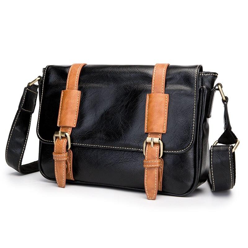 Messenger Bag Hit color Locker Business Messenger Bag Trends Mens Vintage Shoulder Bag