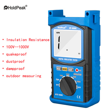 New HP-6688C 1000V Digital Insulation Resistance Tester Auto Range Portable Outdoor Dustproof&Dampproof Test Ohm Multimeter