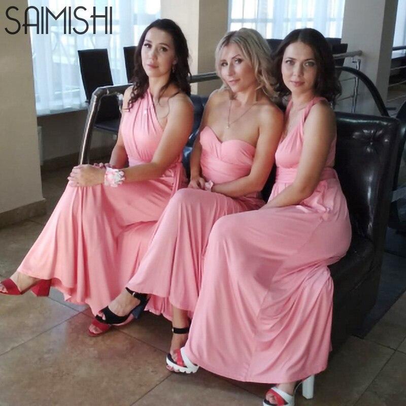 97ad18dc36fef5 € 9.06 40% de réduction|Saimishi Taille XS XL Femmes Robe maxi  enveloppement de bandage Robe Multiway Demoiselles D'honneur Convertible  Infinity ...