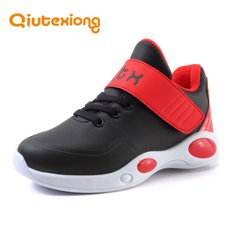 QIUTEXIONG Sport Children Shoes For Kids Sneaker Boys Shoe Running Sport Trainer School Student Footwear Casual chaussure enfant