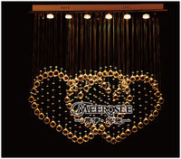 Modern Crystal Light Fixture Rectangle Crystal Ceiling Lamp Lustres De Cristal Love Curtain Lamp With 6