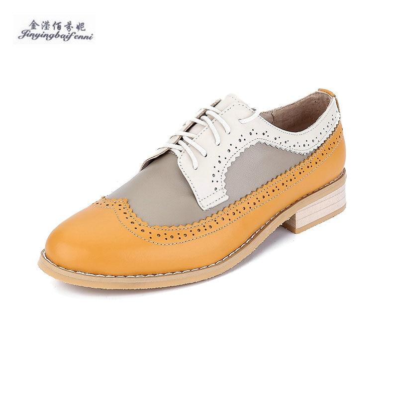 2018 And up Mâle Casual Nouvelle brown En yellow Européenne Chaude Véritable Black Mode Chaussures Sapatos De Cuir green Taille Dentelle Oxford Hommes Appartements Grande White CnaR6a