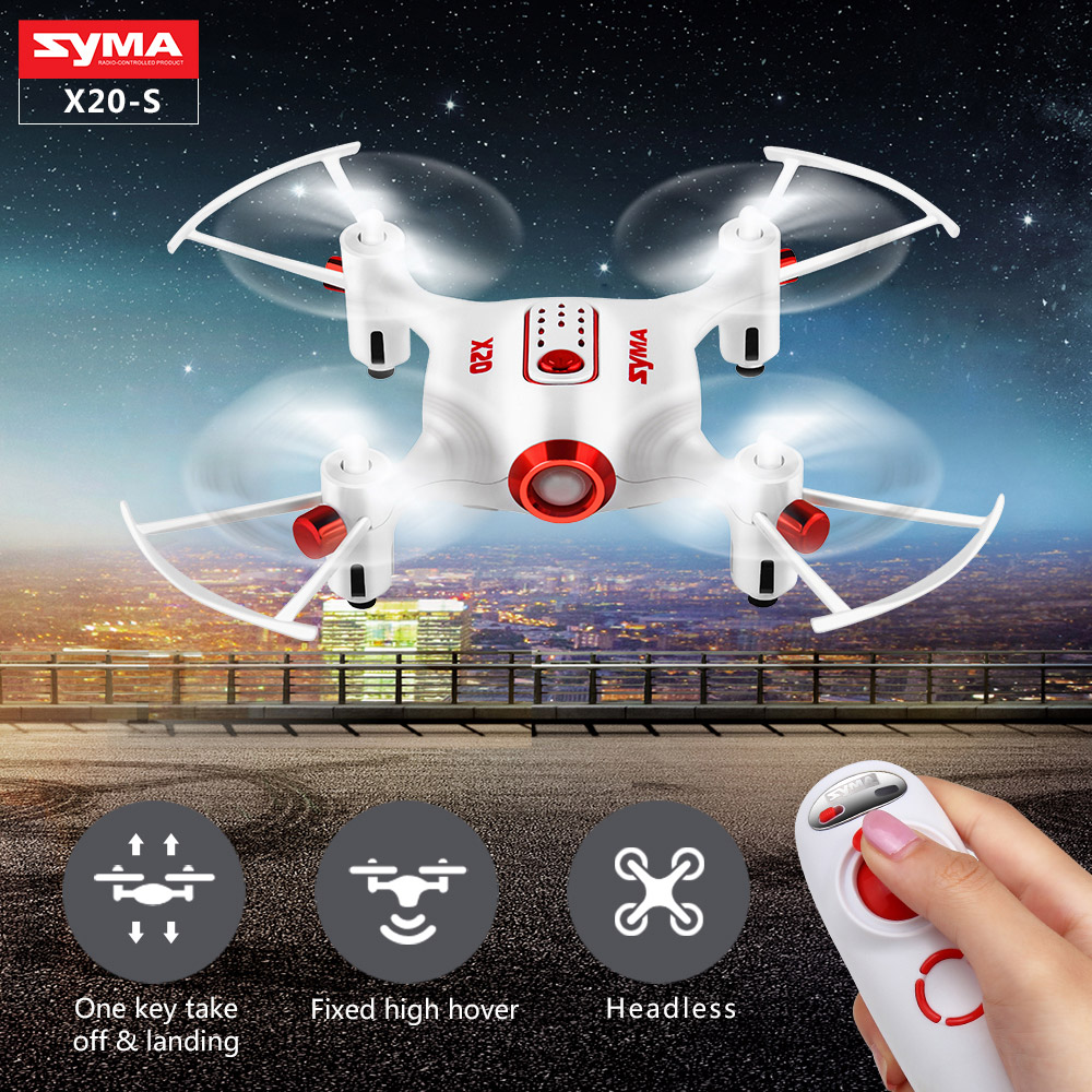 Syma X20-S RC Mini Drone Quadcopter Single Hand Remote Control Drones Helicopter Pocket RC Aircraft Dron Toys For Boys Gift
