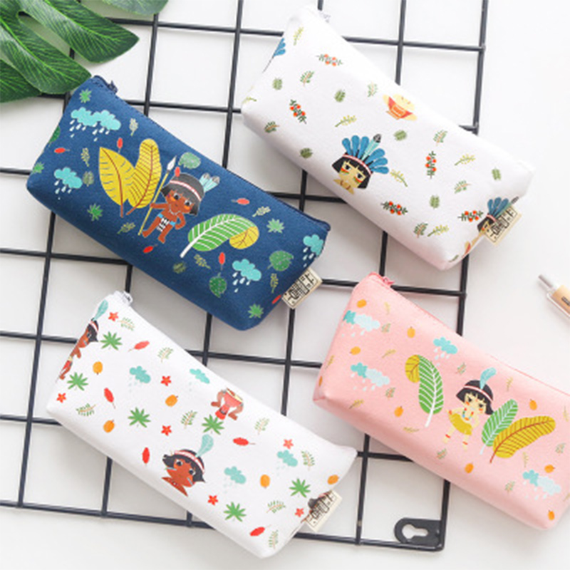 Pencil Bags for Girls Earrings Jewelry Makeup Storage Bag Stationery Cosmetic Organizer Case Desktop Home Office Storage