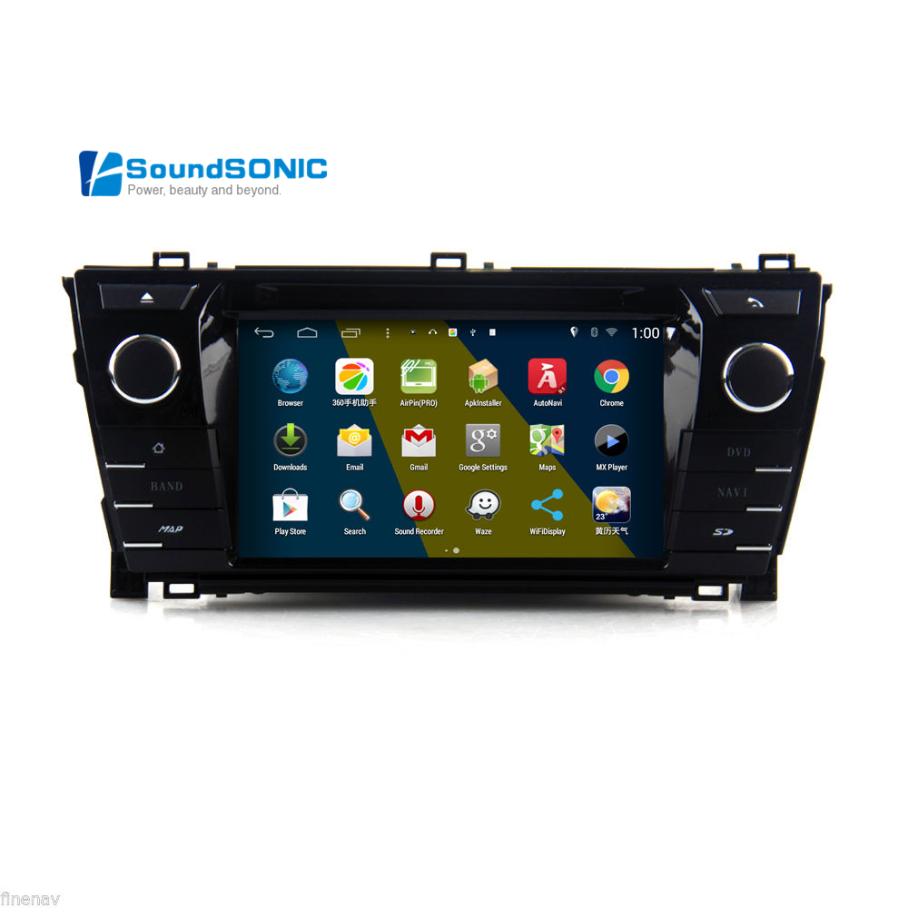 android 4 4 4 for toyota corolla 2013 2014 2015 2016 auto car radio stereo dvd gps navigation. Black Bedroom Furniture Sets. Home Design Ideas