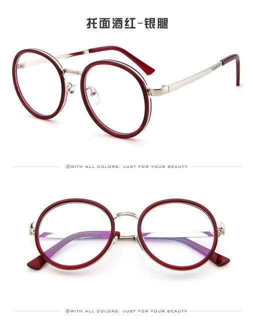 4472a6ec761c GUANGDU Cat Eye Glasses Frame Women Brand Designer Round Vintage Eye Glasses  Men Plain Eyeglasses Frame Clear Lens Eyewear 2965