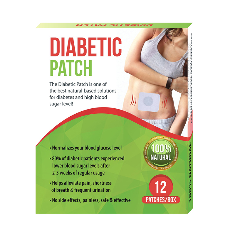 12 Pieces=1 Box/lot Diabetic Patch Reduce High Blood Sugar Natural Herbs Diabetes Plaster