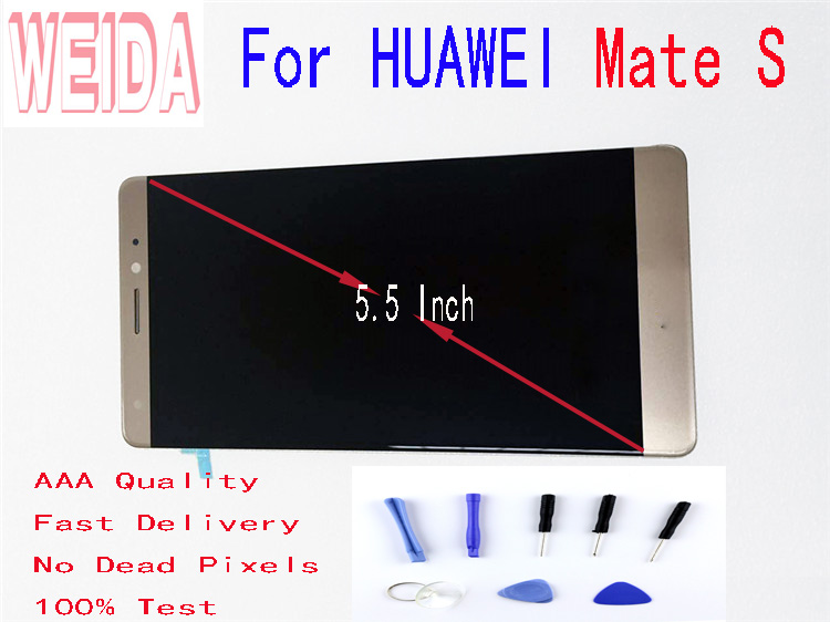 5.5 Inch For HUAWEI Mate S LCD Display Touch Screen Digitizer Assembly  For Mate S CRR-L09 CRR-UL20 With Free Tool No Dead Pixel