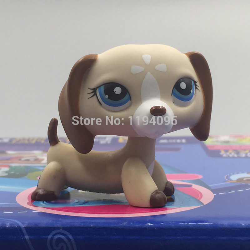 Lovely pet shop lps toys Collection Figure Toy Dachshund Dog Puppy Brown Tan Mocha White Nice Gift Kids