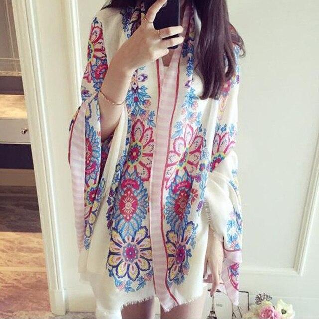 Bufanda de la India caliente Primavera Verano playa marca poncho bufandas sueltas Casual señoras estilo étnico bufandas cabeza Sarong envoltura chal